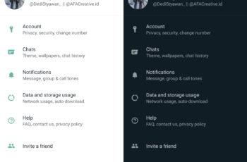 Cara Mode Gelap WhatsApp