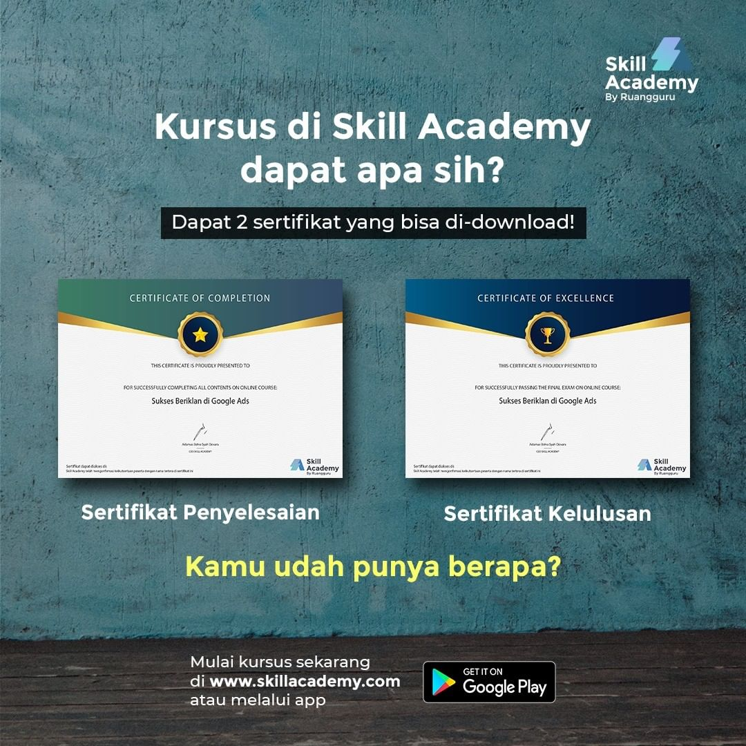 aplikasi skill academy by ruangguru