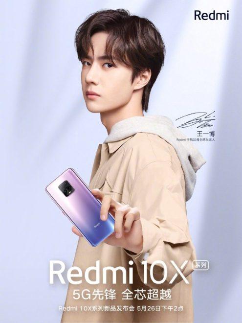 Poster Redmi 10X dengan Model