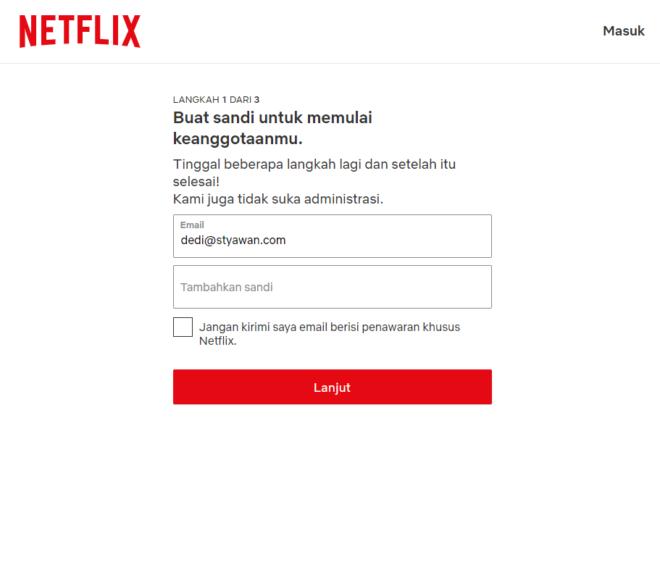 Cara Mendaftar Netflix Tanpa Kartu Kredit - Daftar AKun